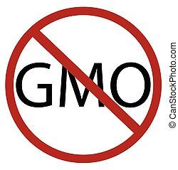 No GMO Sign