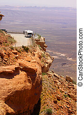 Adventurous driving - Adventurous travel on mountain cliffs...