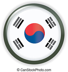 Orb KOREA Flag button illustration 3D