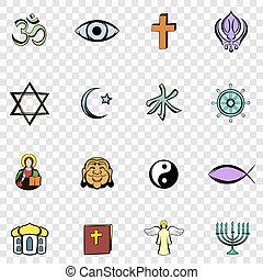 Religion set icons