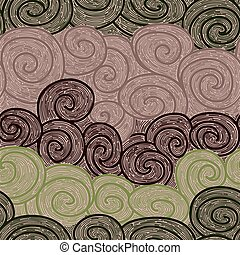 whorl seamless hand drawn pattern - red whorl seamless...