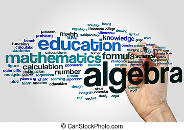 Algebra word cloud concept