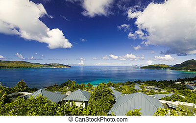 Praslin Island - The beautiful island of Praslin, Seychelles