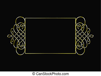 vintage gold vector frame - vintage gold frame isolated on...