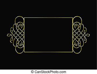 vintage gold vector frame - vintage gold frame isolated on...