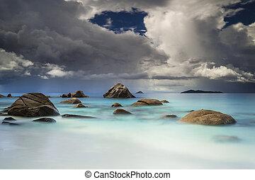 Anze Lazio Beach - Beautiful view of Anze Lazio beach in...