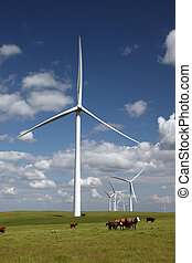 White Power Generating Wind Turbines