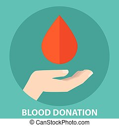 Blood drop creative illustration. Donate blood