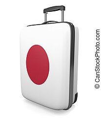 Japan vacation suitcase - Japan vacation destination concept...