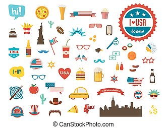 American design elements. happy independence day of America...