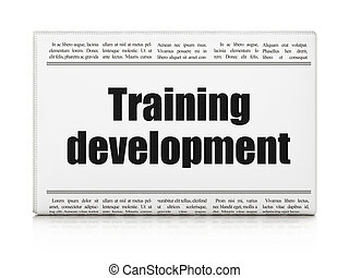 Education concept: newspaper headline Training Development