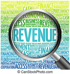 REVENUE word cloud