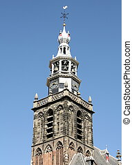 Church tower.Gouda - The tower of the St-Jans -Church from...