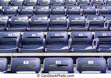 Purple Stadium Seats  Straight On