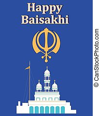 gurdwara greeting - a vector illustration in eps 10 format...