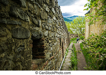 Medieval security wallcloseup - This ia a photo of the...