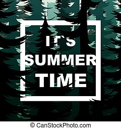 Camping time nature background.