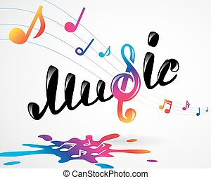 Colorful music logo on white, vector illustration for Your...