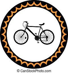 bicicleta,  vector, silueta