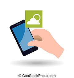 Smartphone design. App icon. White background - smartphone...