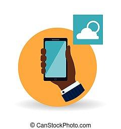 Smartphone design App icon White background - smartphone...