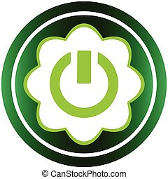 Green icon inclusion symbol - Green icon with a symbol of...