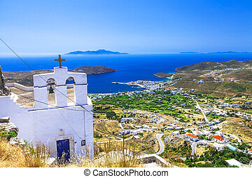 Traditional greek islands - Serifos. top vie from monastery....