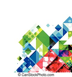 Abstract colorful and creative geometric template and blank...
