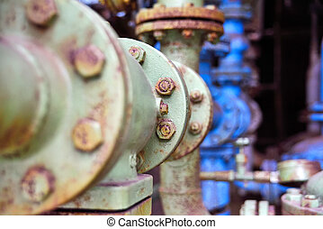 old industrial pipes