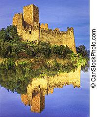 Almourol -castle of Knights Templar , Portugal - Impressive...