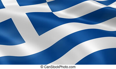 Greece flag in the wind. Part of a series.