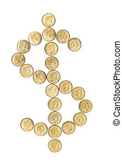Coins in Shape of Dollar Sign
