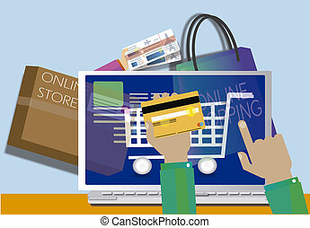 Online shopping concept Web STORE - shopping online with...