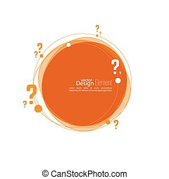 Question mark icon Help symbol FAQ sign on background vector...