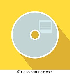 Blank CD icon in flat style