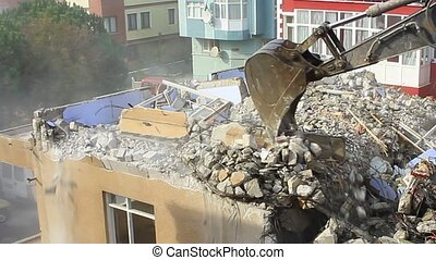 Demolition of building Concrete - Demolition of building...