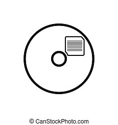 Blank CD icon in simple style