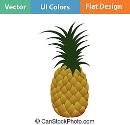Flat design icon of Pineapple in ui colors Vector...