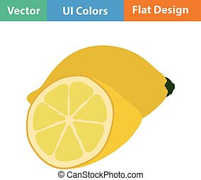 Flat design icon of Lemon in ui colors Vector illustration