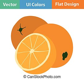 Flat design icon of Orange in ui colors Vector illustration...