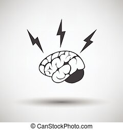Brainstorm icon on gray background with round shadow Vector...