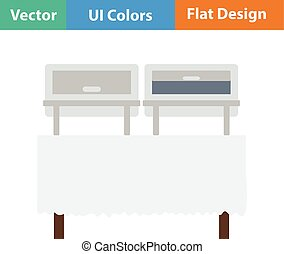 Flat design icon of Chafing dish - Chafing dish icon. Vector...