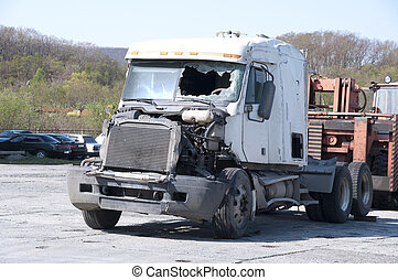 The truck after failure - The truck without the trailer...