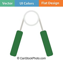 Flat design icon of Hands expander in ui colors. Vector...