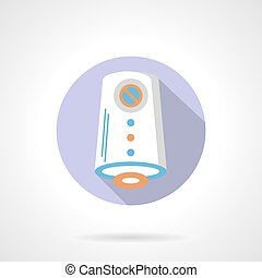 Air purification flat color round vector icon - Air cleaner...