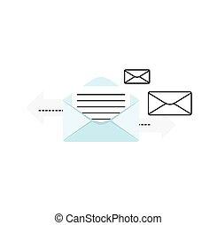 Contact Concept Message - Contact concept message Conceptual...