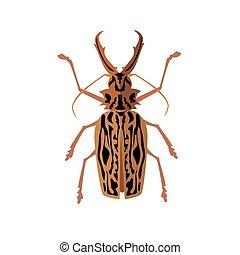 Big Beetle Deer with Horns - Icon of big beetle deer with...