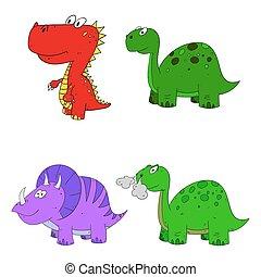 dino set cartoon