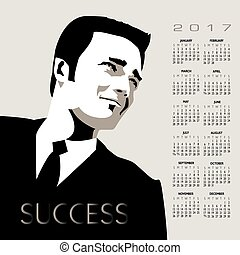 2017 Businessman calendar
