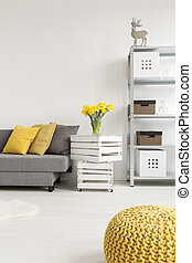 Functional space with decorative details - Light room with...